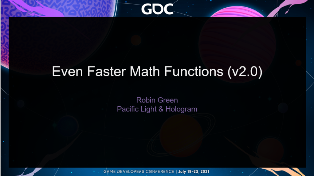 Even Faster Math Functions (title slide)